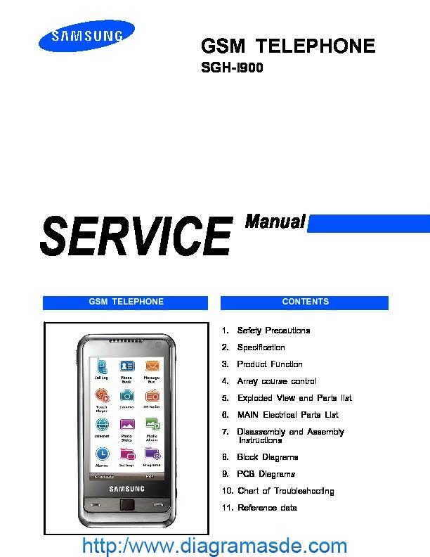Diagrama Del Celular Samsung Sgh I900 Service Manual