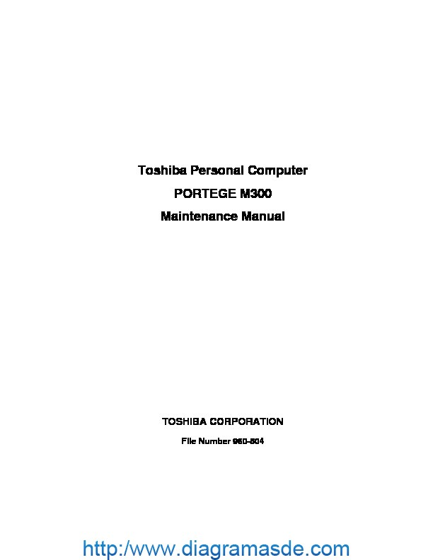 Notebook Toshiba portege m300 Manual de Servicio.pdf