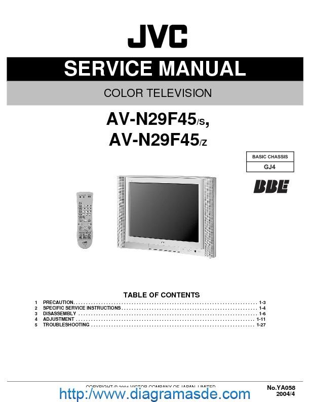 Avn29f45 Jvc Tv Pdf Jvc Av-n29f45  S Y Av-n29f45  Z
