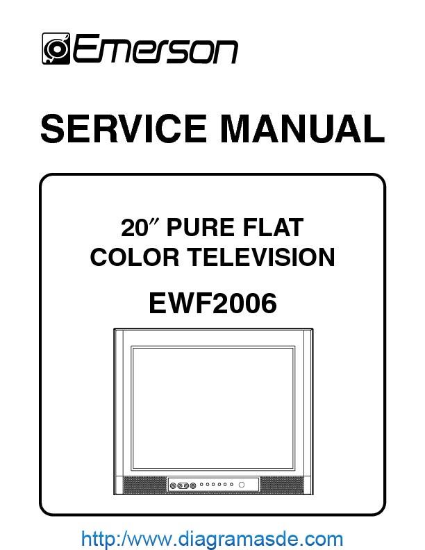 Ewf2006 Tv Emerson Pdf Emerson Ewf2006