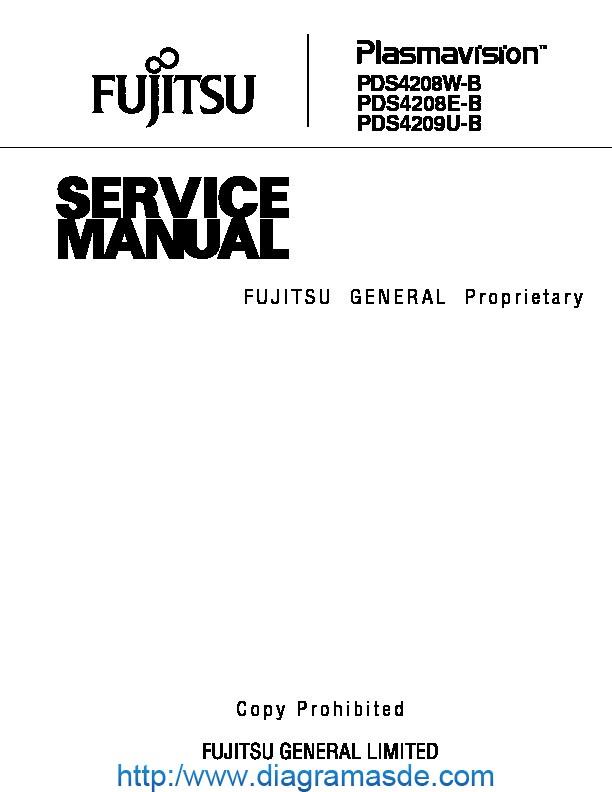 Fujitsu PDS4208  PDS4209 plasma TVpdf Fujitsu