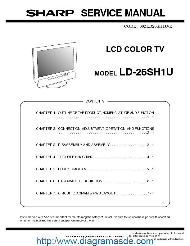Ld26sh1usm Pdf Sharp Ld
