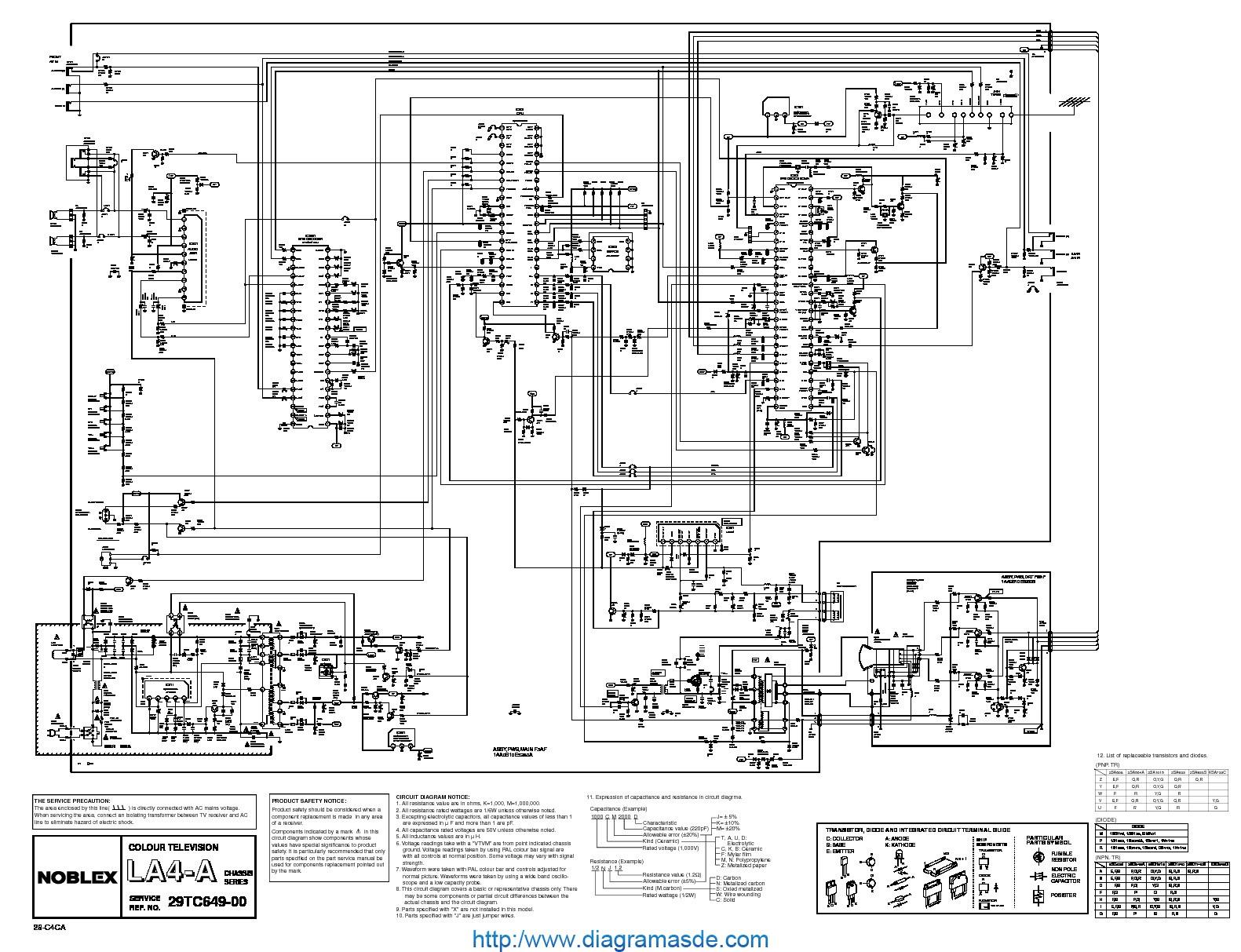 noblex 29tc649 1  pdf noblex 29tc649-00 la 4a