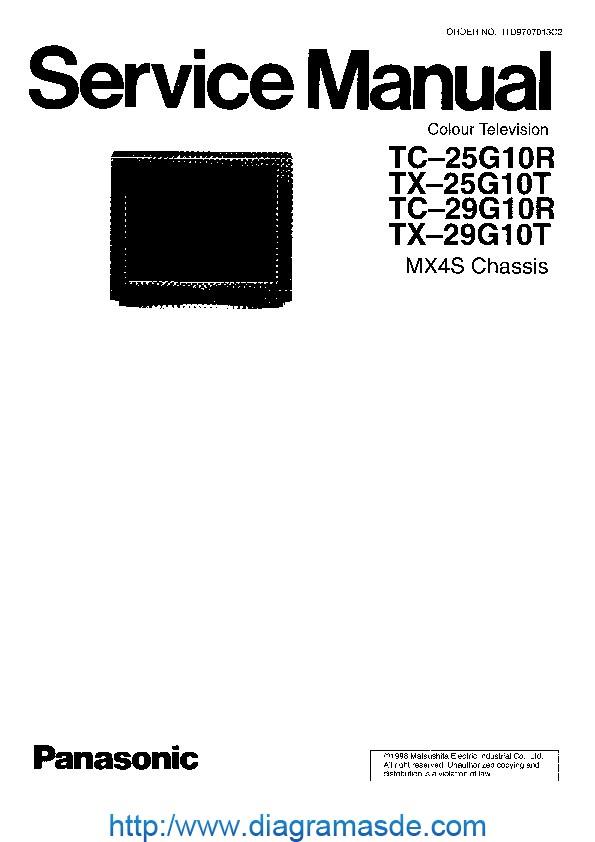 tc 25g10r tx 25g10t tc 29g1 pdf panasonic