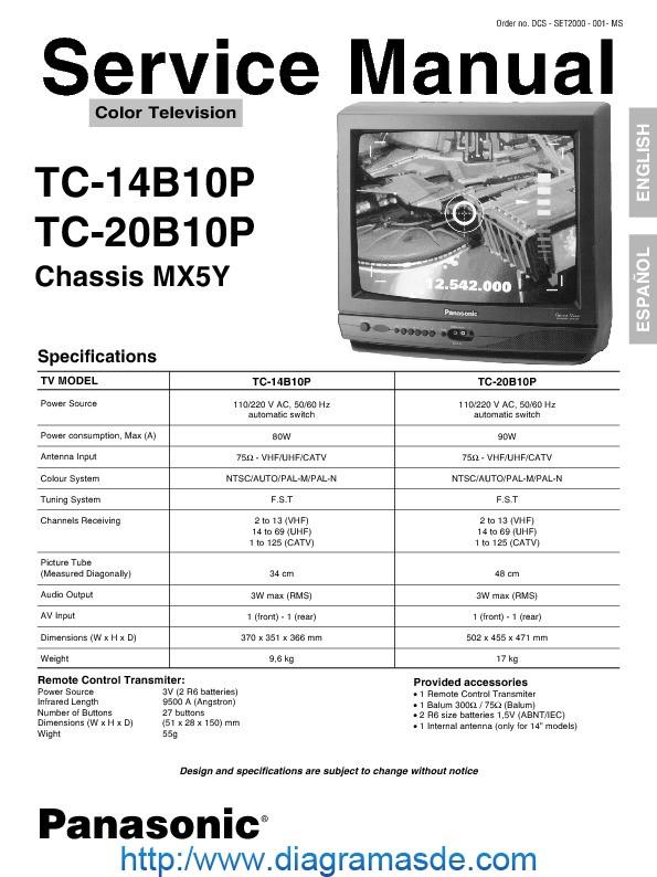 Tc-14 20b10p Pdf Panasonic  U2014 National Tc-20b10p Sm Mx5y