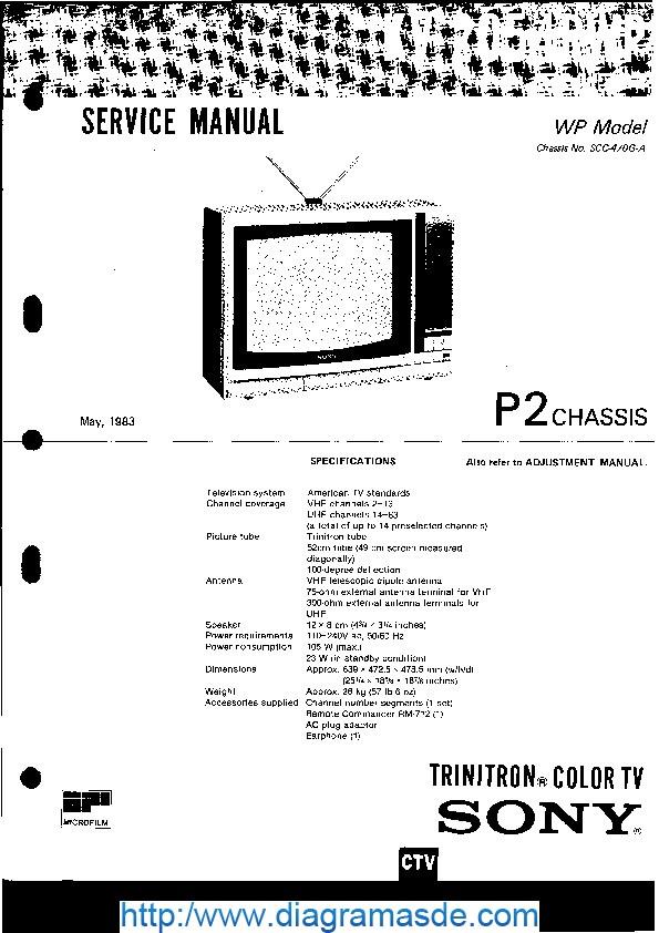 tv kv-2054 pdf sony kv-2054