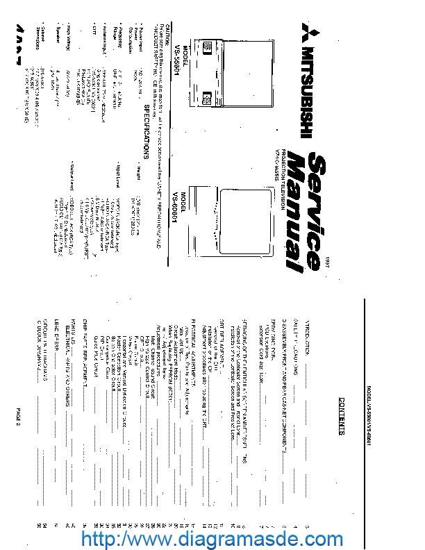 vs55601 vs45501 chassis 20vz4 pdf mitsubishi vs55601