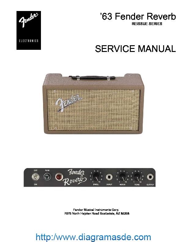 Схема Fender 63 REVERB - Manual-Shop.ru.