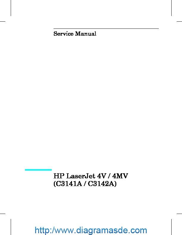 Hp Laserjet 4mv  4v Manual De Servicio Pdf Hp