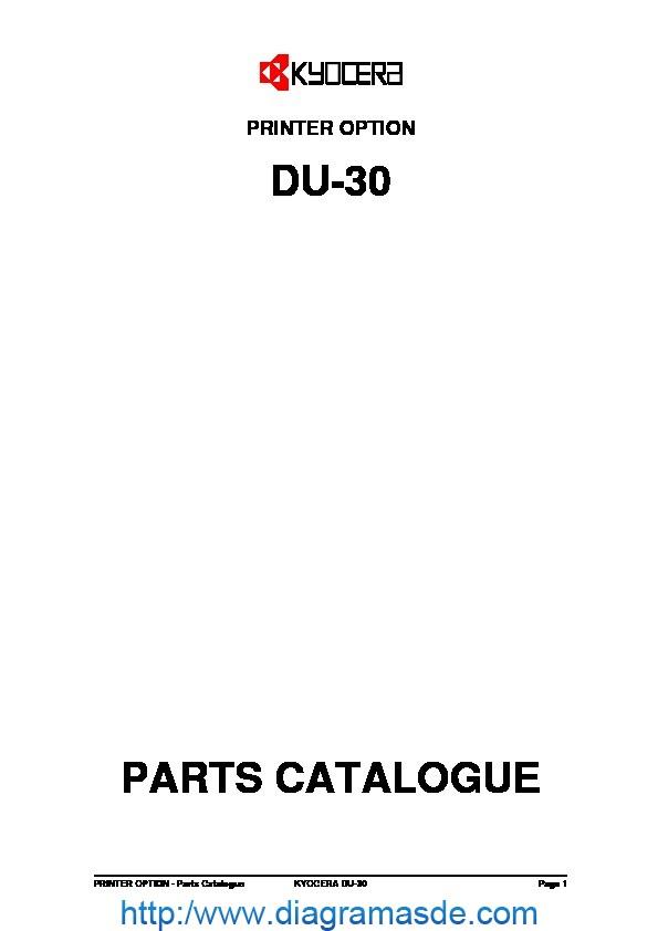 Kyocera Duplexer DU-30 Parts Manual.pdf