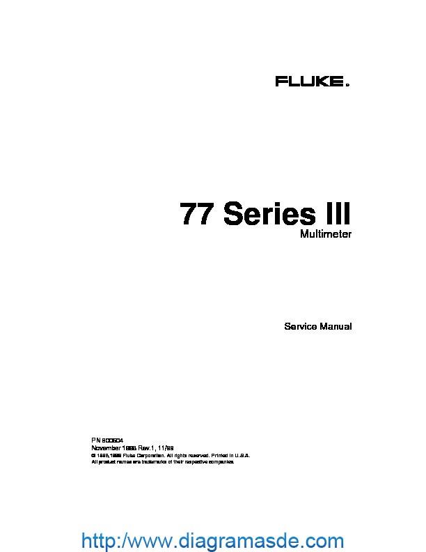 Fluke 77 Iii Service Pdf Fluke 77 Series Iii