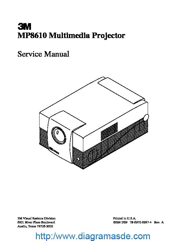 mp8610sm pdf 3m mp8610