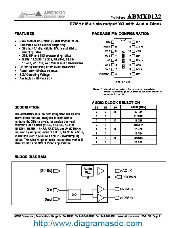 MX0841pdf Abracon ABMX0122   Diagramasde  Diagramas