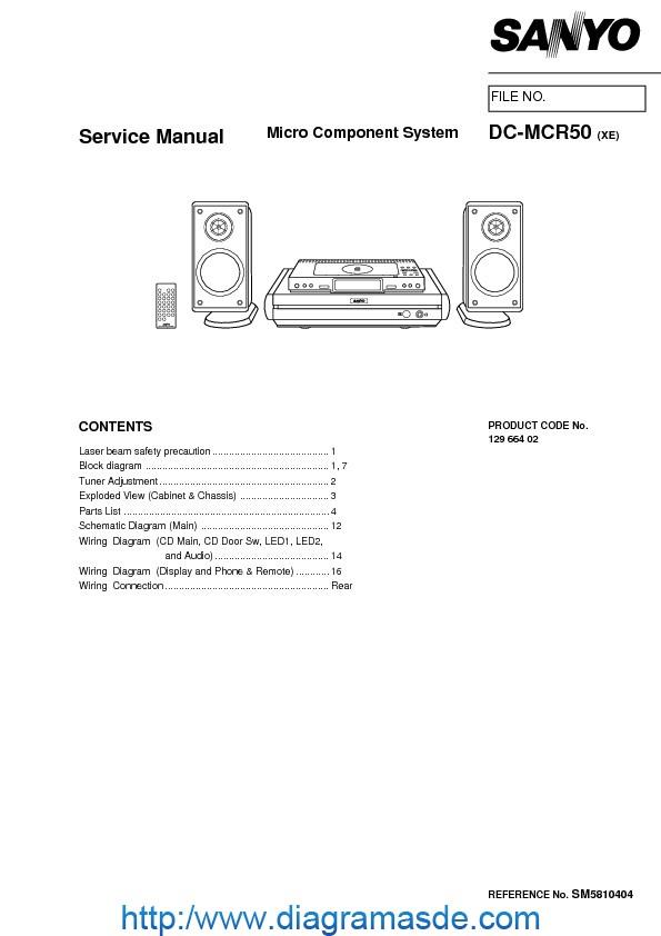 sanyo dc mcr50 pdf