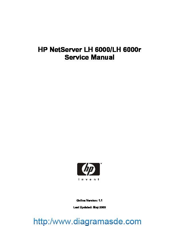 Hp Netserver Lh6000 Service Manual Pdf H P Lh 6000  Lh