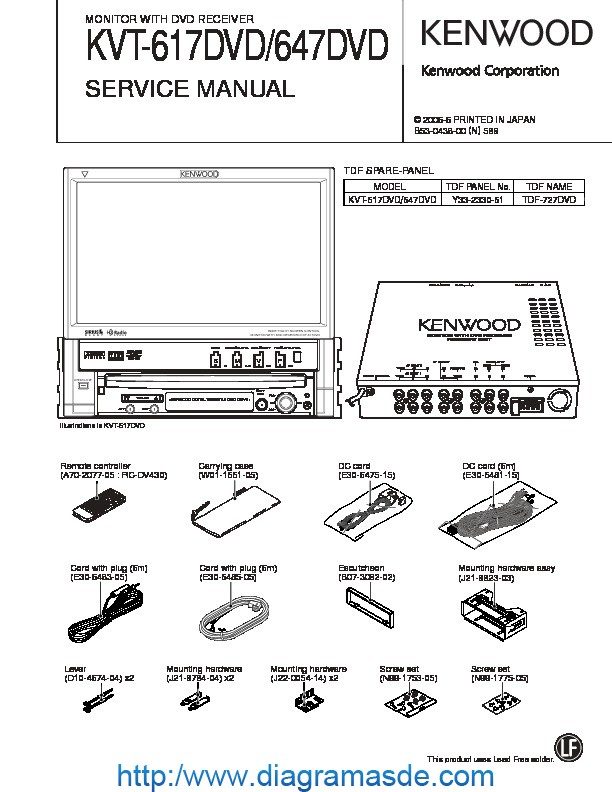 Wiring Diagram For Kenwood Kvt 617dvd : Audio diagramasde diagramas electronicos y