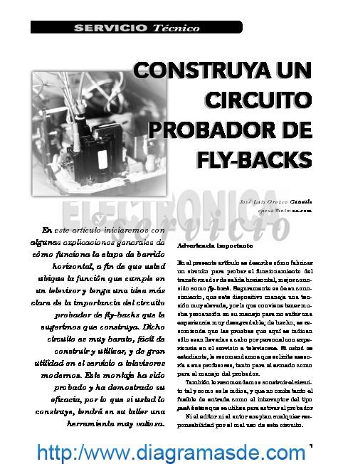 circuito probador de flybacks pdf circuito probador de