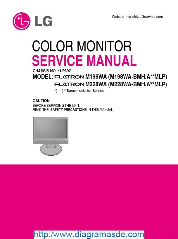 Lcd Lg M198wa  M228wa Service Manual Pdf Lcd Lg M198wa