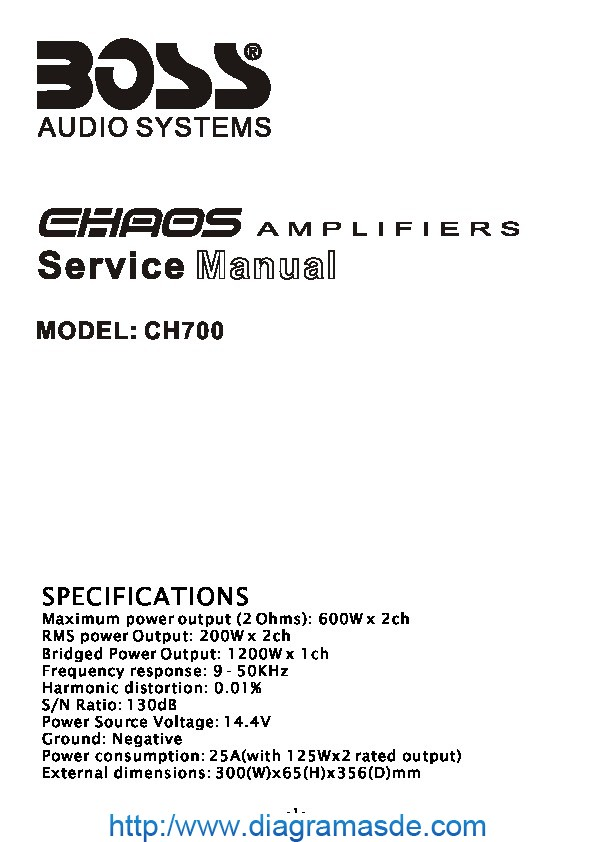 BOSS CH700 Manual de Servicio.pdf