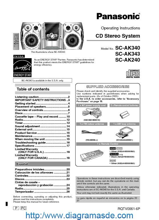 panasonic sa ak340 pdf panasonic sa ak340 pdf