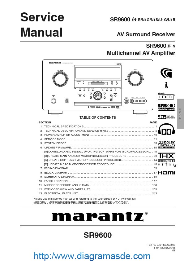 Marantz SR9600 AV multichannel amp.pdf