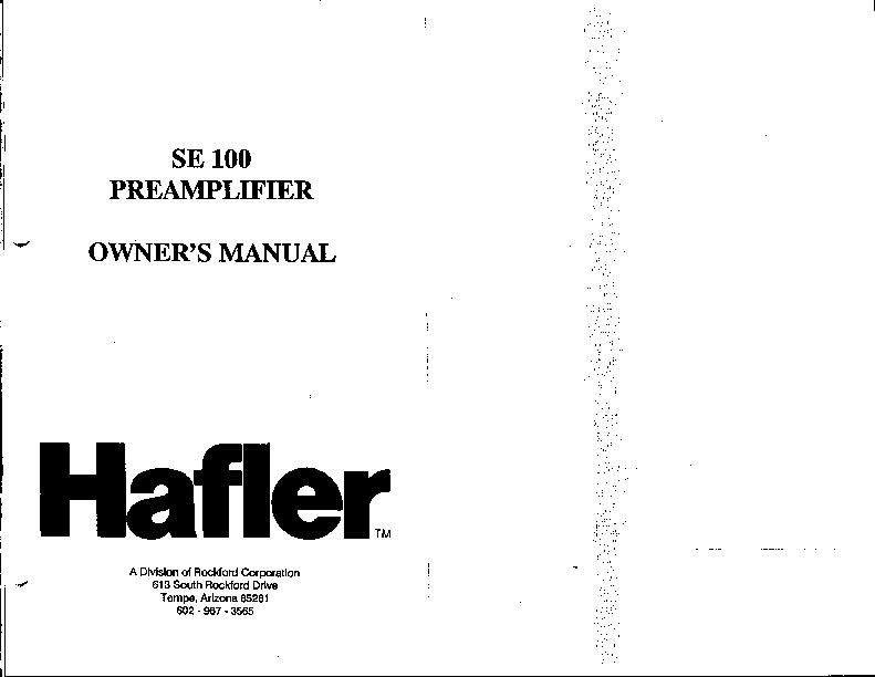 Hafler SE 100.pdf