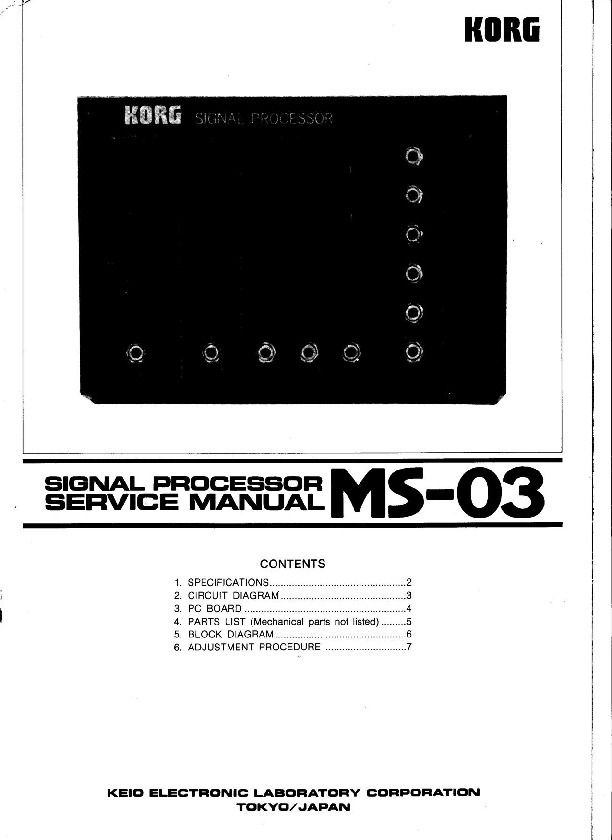 KORG MS-03 Signal Processor schematic diagrams.pdf