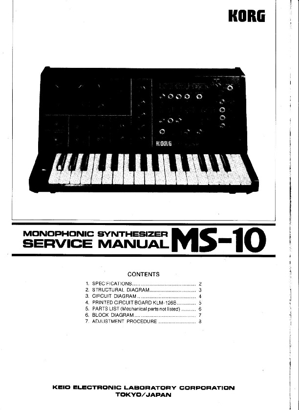 KORG MS-10 Synthesizer service manual.pdf