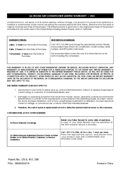 LB8000ER Informacion de Garantia.pdf