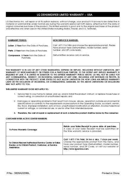 LD40 Informacion de Garantia.pdf