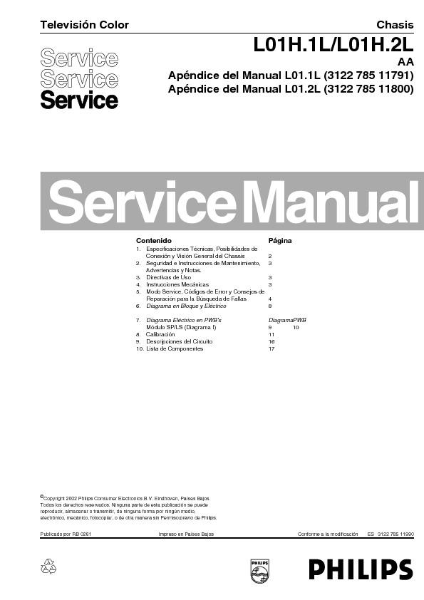 TV PHILIPS CHASSI L 01.1 L --2 L AA APENDICE.PDF