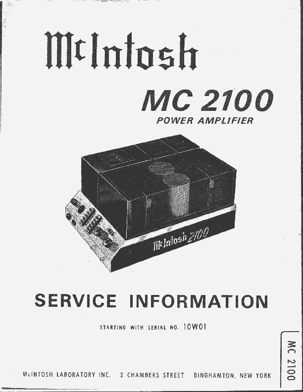 McIntosh MC2100 Amplifier.pdf