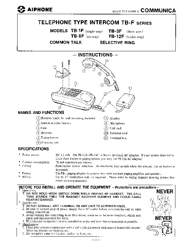 Aiphone TB-F Instructions.pdf
