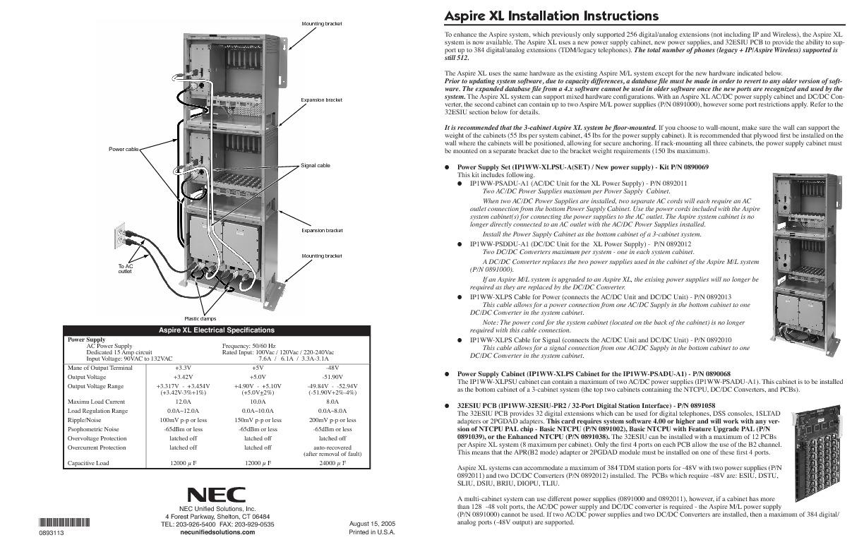 NEC Aspire XL Installation Instructions.pdf