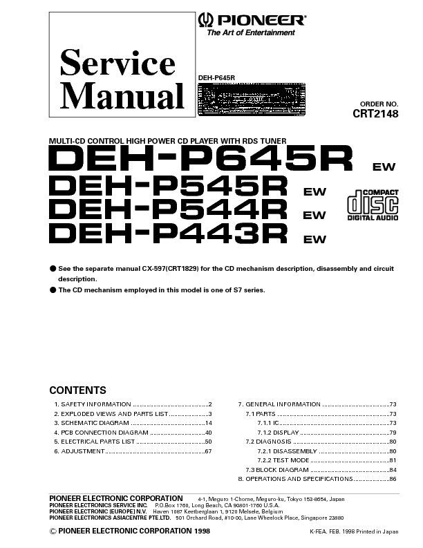 PIONEER C2148.DEH-P645_545.pdf
