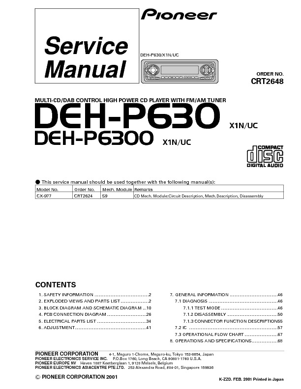DEH-P630 multi cd-dab control high power cd player with tuner.pdf