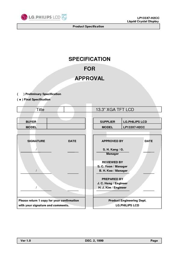 LG LP133X7-H2CC Tft Lcd module.pdf