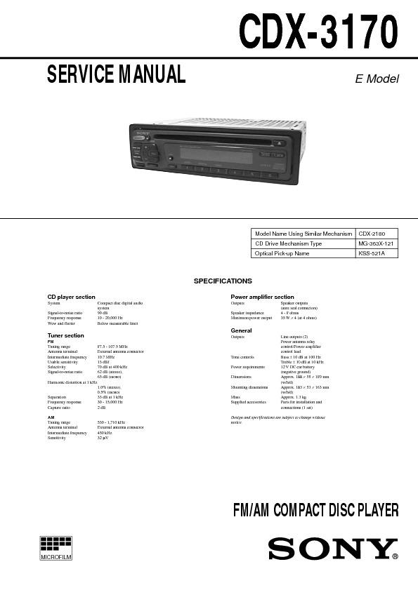 manual cdx-c7000x sony