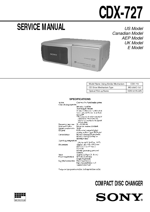 CDX-727 sony car COMPACT DISC CHANGER.pdf
