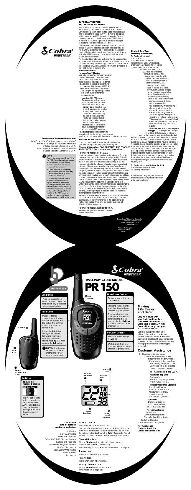 Cobra PR150.pdf