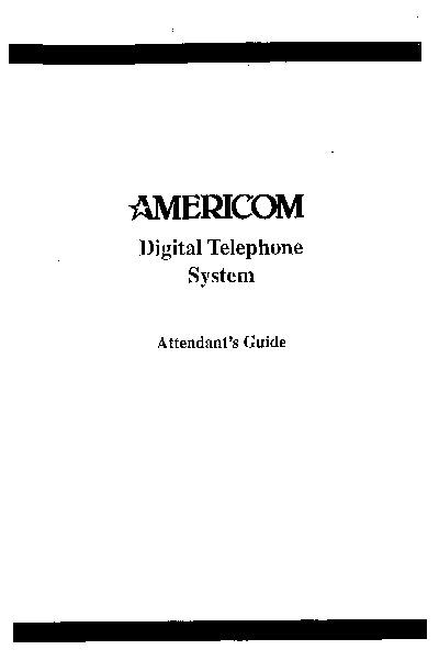 Comdial Americom Digital Telephone Sys Attendant Guide.pdf