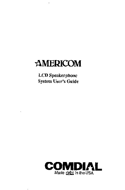 Comdial Americom LCD Speakerphone User Guide.pdf
