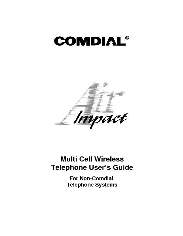Comdial Comdial Air Multi-Cell Wireless Non Comdial Systems User Guide.pdf