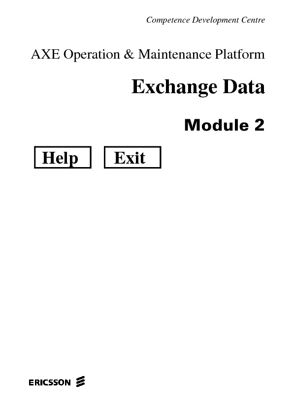 Ericsson AXE Operation And Maint Module 2.pdf