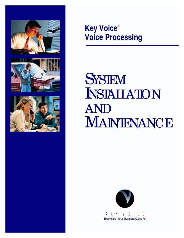 Key Voice Installation And Maint 4-2000.pdf