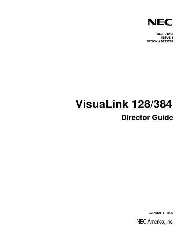 NEC VisuaLink 128-384 Director Guide.pdf