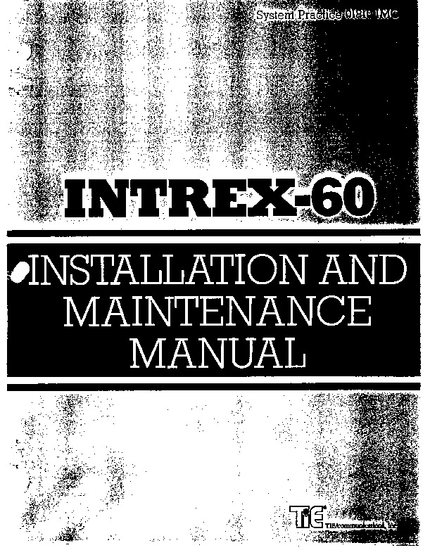 Tie Intrex-60 Installation And Maint.pdf