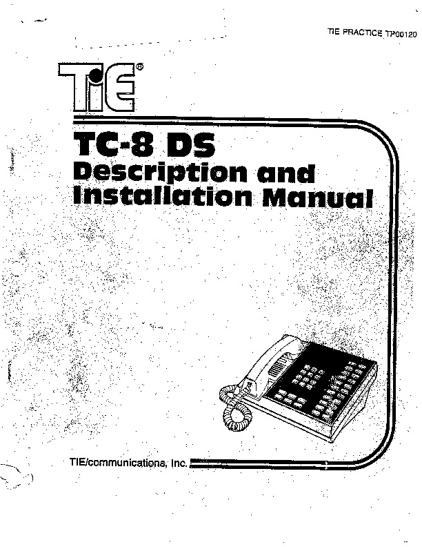 Tie TC-8 DS Installation Manual May 1983.PDF