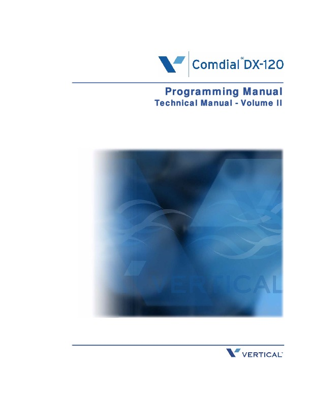Comdial DX-120 Programming Manual Technical Manual Volume II.pdf