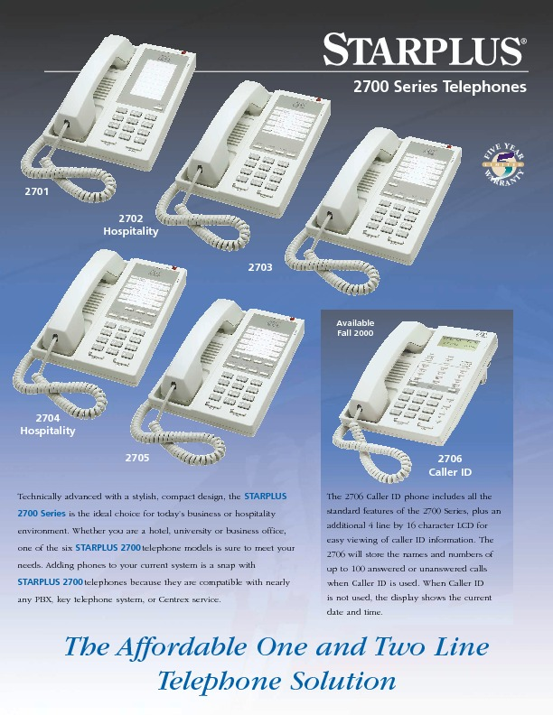Starplus 2700 Series Telephones.pdf